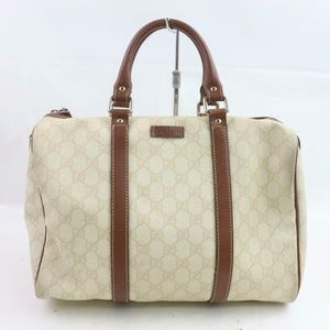 Gucci Ivory Supreme GG Monogram Joy Boston Bag